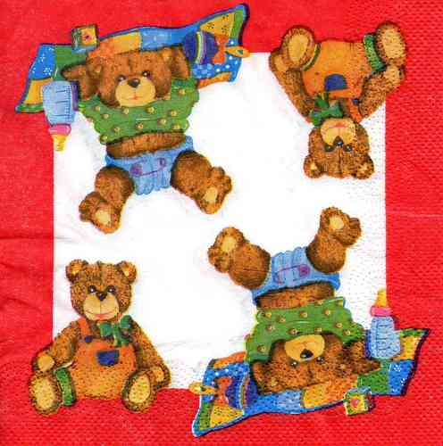 Serviette Windel Teddys