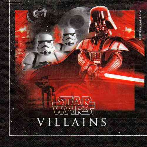 Serviette Star Wars Villains & Heros