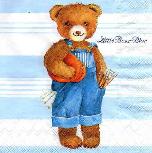 Serviette Little Bear Blue