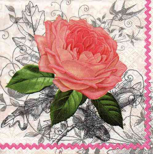 Serviette Charming Rose