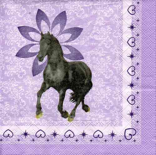 Serviette Black Horse