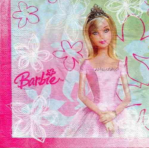 Serviette Barbie Wishes