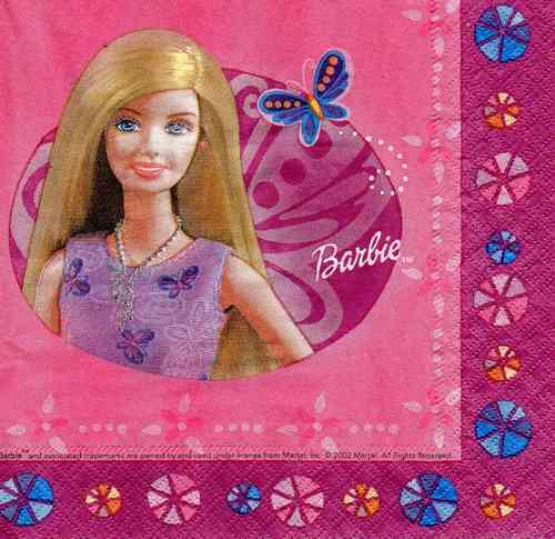 Serviette Barbie Fun