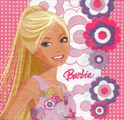 Serviette Barbie Playful Places