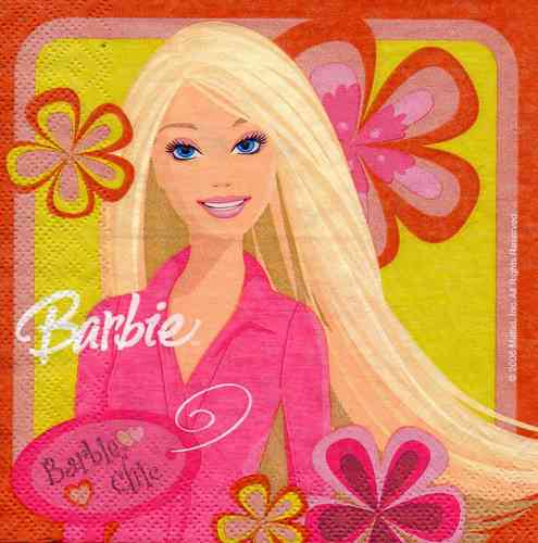 Serviette Barbie Chic