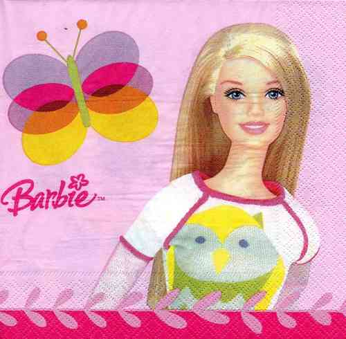 Serviette Barbie Pink World