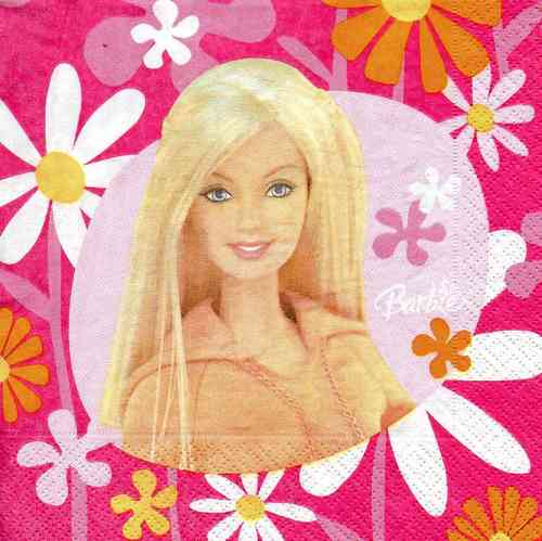 Serviette Barbie Flower