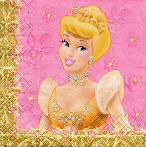 Serviette Disney Princess gold