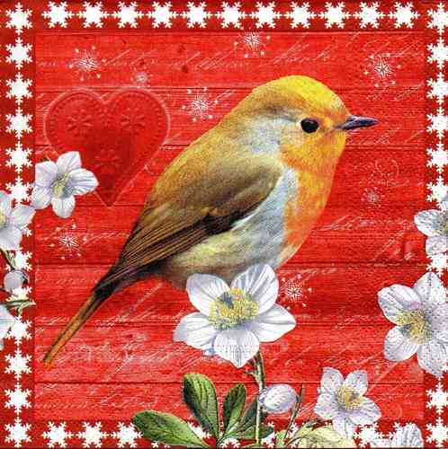 Serviette Bird on a Xmas Day