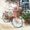 Serviette Flower Bike