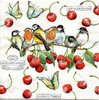 Serviette Cherry Birds