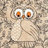 Serviette Mrs. Owl