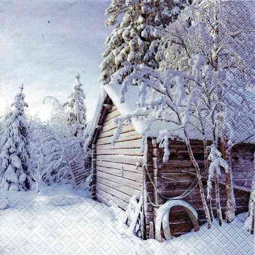 Serviette Winter Cabin