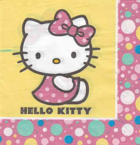 Serviette Hello Kitty gelb