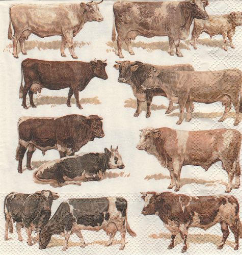 Serviette Cows