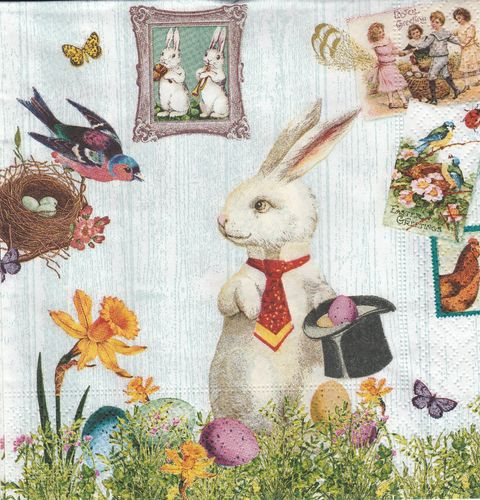 Serviette Magic Easter Rabbit