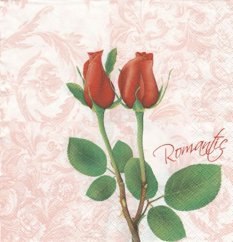 Serviette Romantic Roses