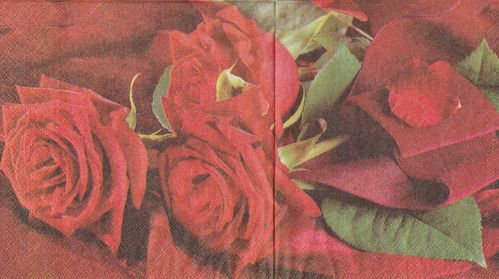 Serviette Red Roses