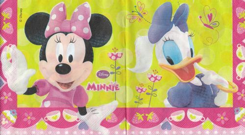 Serviette Disney Minnie & Daisy
