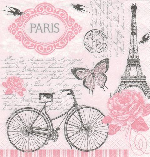 Serviette Parisian Bicycle