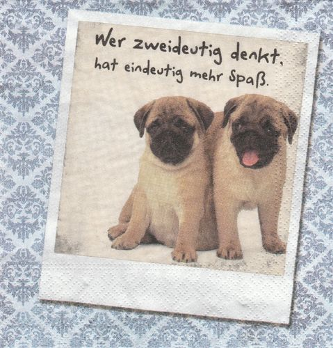 Serviette Tierisches Duo