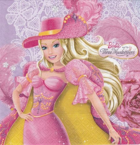 Serviette Barbie Three Musketeers