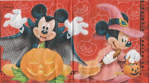 Serviette Micky Mouse Halloween