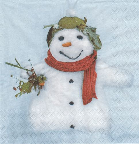Serviette Little Snowman
