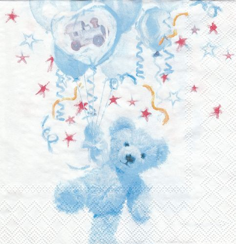 Serviette Teddy blue