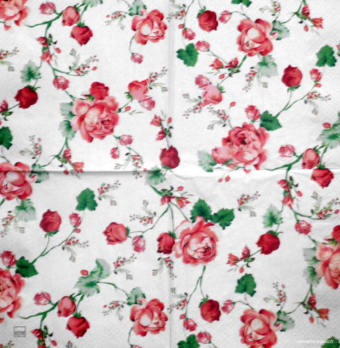 Serviette Cottage Roses